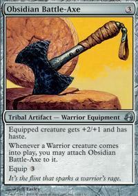 Obsidian Battle-Axe Magic Card