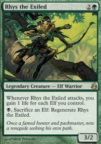 Rhys the Exiled Magic Card