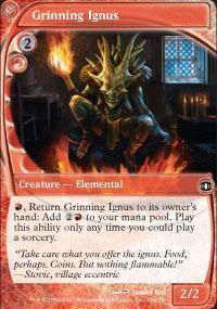 Grinning Ignus Magic Card