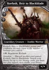 Korlash, Heir to Blackblade Magic Card
