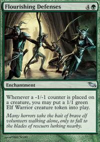 Flourishing Defenses Magic Card