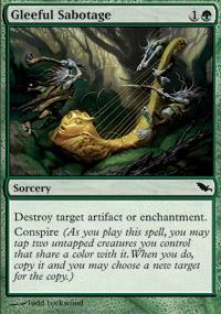 Gleeful Sabotage Magic Card