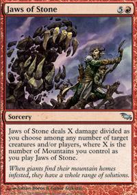Jaws of Stone Magic Card