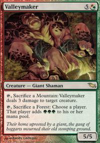 Valleymaker Magic Card
