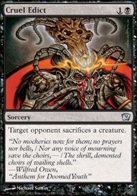 Cruel Edict Magic Card