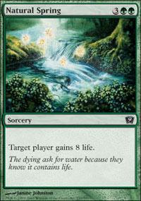 Natural Spring Magic Card