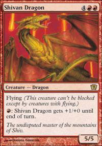 Shivan Dragon Magic Card