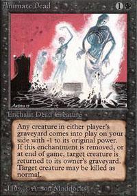 Animate Dead Magic Card