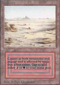 Badlands Magic Card