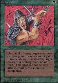 Berserk Magic Card