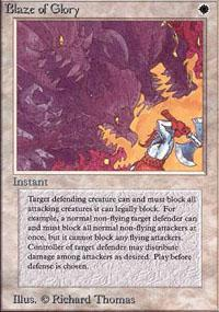 Blaze of Glory Magic Card