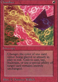 Chaoslace Magic Card