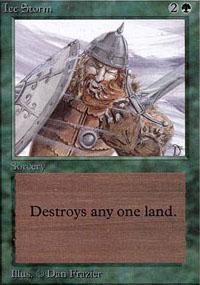 Ice Storm Magic Card