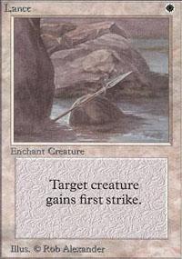 Lance Magic Card