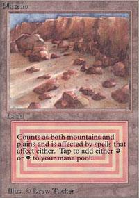 Plateau Magic Card