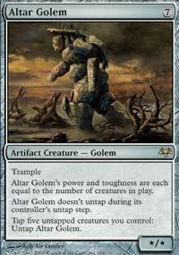 Altar Golem Magic Card