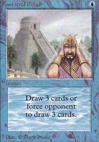 Ancestral Recall Magic Card