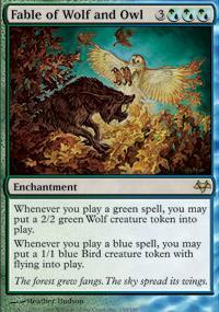 Fable of Wolf and Owl Magic Card