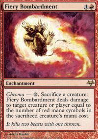 Fiery Bombardment Magic Card