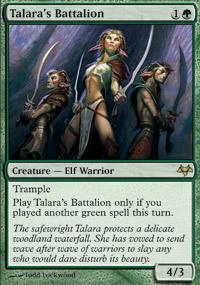 Talara's Battalion Magic Card