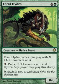Feral Hydra Magic Card