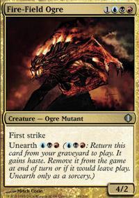 Fire-Field Ogre Magic Card