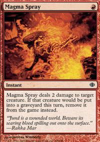 Magma Spray Magic Card