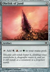 Obelisk of Jund Magic Card