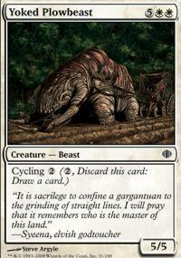 Yoked Plowbeast Magic Card