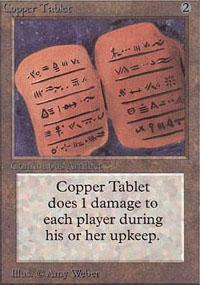 Copper Tablet Magic Card