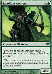 Sacellum Archers Magic Card