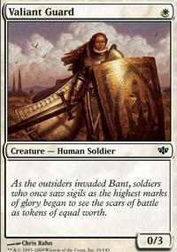 Valiant Guard Magic Card