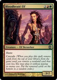 Bloodbraid Elf Magic Card