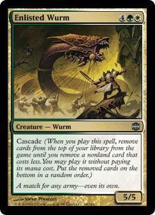 Enlisted Wurm Magic Card