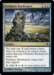 Fieldmist Borderpost Magic Card