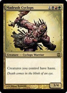 Madrush Cyclops Magic Card