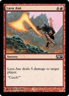Lava Axe Magic Card