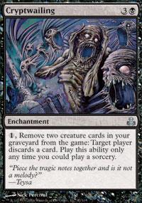 Cryptwailing Magic Card