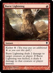 Burst Lightning Magic Card