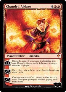 Chandra Ablaze Magic Card