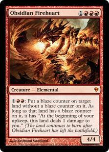 Obsidian Fireheart Magic Card
