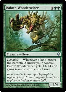Baloth Woodcrasher Magic Card