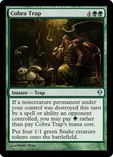 Cobra Trap Magic Card