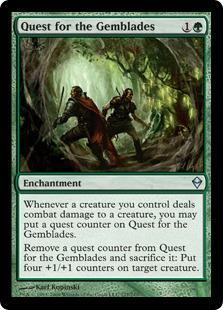 Quest for the Gemblades Magic Card