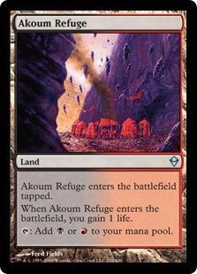 Akoum Refuge Magic Card
