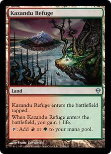 Kazandu Refuge Magic Card