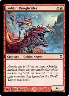 Goblin Roughrider Magic Card