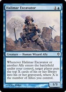 Halimar Excavator Magic Card