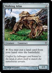 Walking Atlas Magic Card