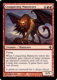 Conquering Manticore Magic Card